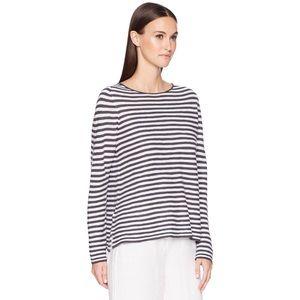 Eileen Fisher Organic Cotton Stripe Long Sleeve